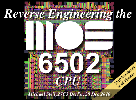 Reverse Engineering the MOS 6502 CPU [announcement] – pagetable com