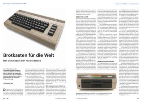 C64-Artikel in der c't Retro 2018 – pagetable com